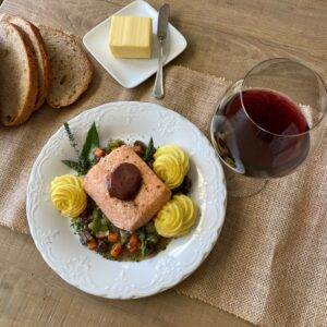 Salmon, Red Wine Butter 4